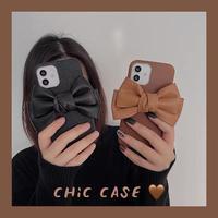 Fake leather ribbon iphone case