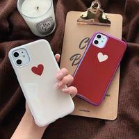 Heart beige red laser iphone case