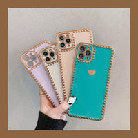 Heart gold side iphone case