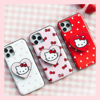 [Sanrio]  Hellokitty heart grip slide card pocket  case