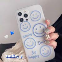 Blue smile line iphone case