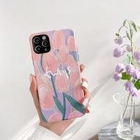 Tulip white letter iphone case