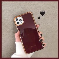 Wine metal side iphone case