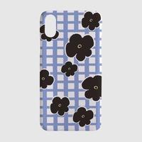 [tipitipo] Check floral matt hard case (Red, Blue)