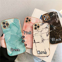 Marble metal side iphone case