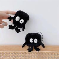 Black monster fur airpods case