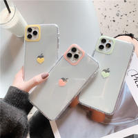 Heart color camera hole iphone case