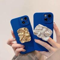 Gold silver grip blue iphone case