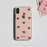 Heart dot red clear case