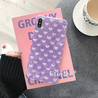 Purple heart shell iphone case