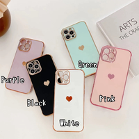 One heart gold side iphone case