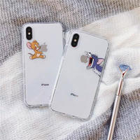 Mouse cat apple clear  iphone case