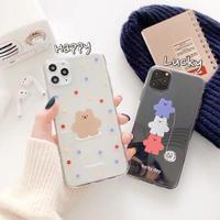 Lucky happy bear clear  iphone case