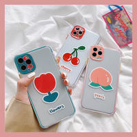 Flower cherry peach color side iphone case