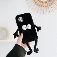 Black monster fur iphone case