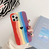 Rainbow one heart iphone case
