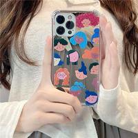 Girl's face mirror iphone case