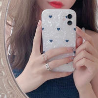 Petite heart shell iphone case