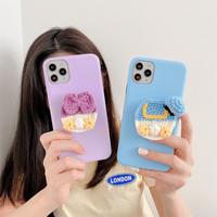 Duck hip knit grip iphone case