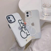 Black white bear iphone case