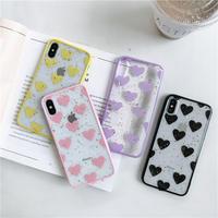 Heart dot glitter iphone case