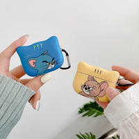 Mouse cat yellow blue cat shape airpods case