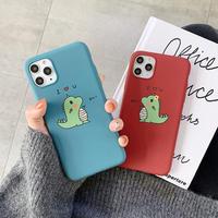 Dinosaur blue red iphone case