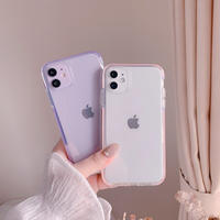 Simple pink purple side iphone case