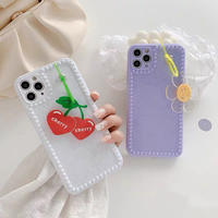 Cherry smileflower strap iphone case