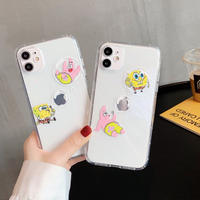 Cartoon yellow pink bubble play clear iphone case