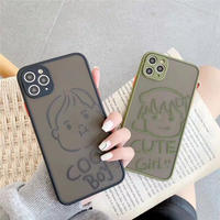 Cool boy cute girl color side iphone case