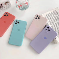 Spring color heart soft iphone case