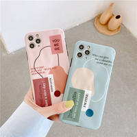 Letters green pink iphone case