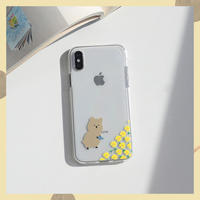 Yellow daisy quokka clear case