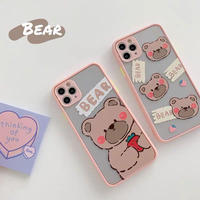 Pink bear color side iphone case