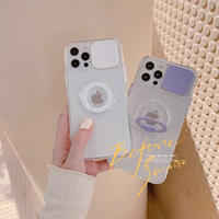 Color ring clear iphone case(White, Purple)