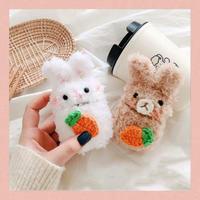 Rabbit fur airpods case