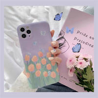 Light purple tulip iphone case