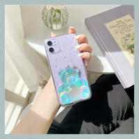3d teddy bear glitter iphone case