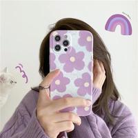 Big purple flower pattern iphone case