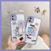 Mouse cat label bluegrey side iphone case