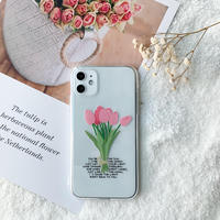 Tulip letters clear case