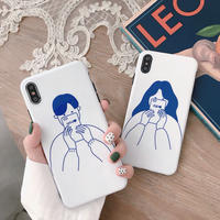 White couple iphone case