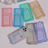 Color clear pocket iphone case
