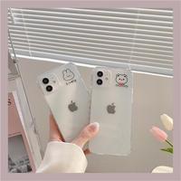 Lovely rabbit niceday bear clear iphone case