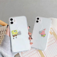 Cartoon bubble yellow pink clear iphone case