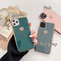 Smile metal color side iphone case