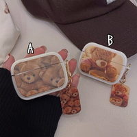 Bear pattern airpods case