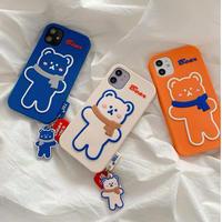 Bear ivory orange blue iphone case