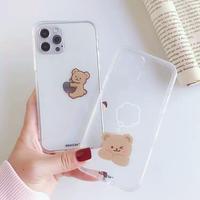 Simple bear clear iphone case